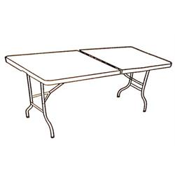שולחן מתקפל ענק לעבודה או אירוח
