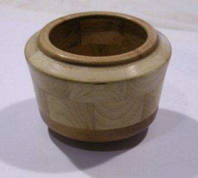 קערת מיפל עם שוליים עץ בוק